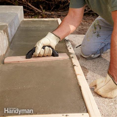 repair  replace pouring concrete steps  family
