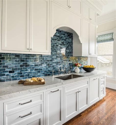 white kitchen with blue backsplash lovely blue and white kitchen backsplash tiles gl 1832