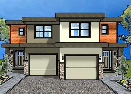 plan mg duplex house plan   small narrow lot