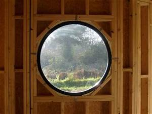 l oeil de boeuf pose vu de l interieur maison bois With oeil de boeuf interieur