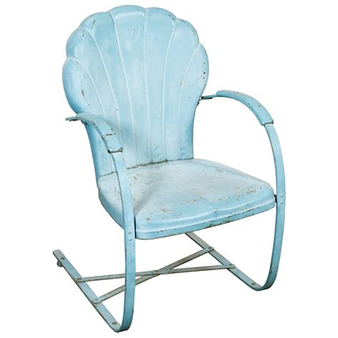 lawn chair shell back turquoise air designs