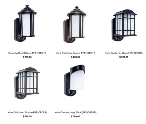 Kuna Außenlampe mit WLAN und Überwachungskamera