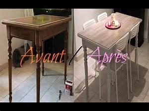 Comment Décaper Un Meuble Vernis En Chene : retaper sa table en bois vernis youtube ~ Premium-room.com Idées de Décoration