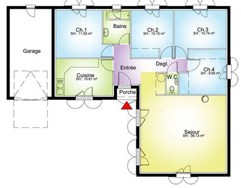 maison avec 4 chambres plan grande maison avec 4 chambres plans maisons