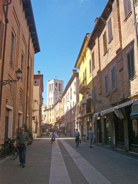 ferrara  main streets emilia romagna italy city