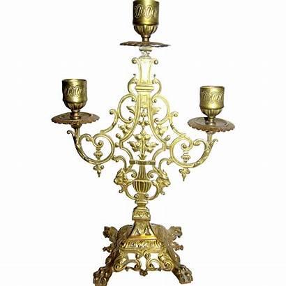 Candelabra Victorian Brass Revival Cast