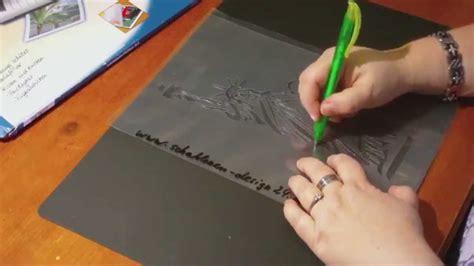 schablonen selber machen textildesign schablone aus laminierfolie selbst herstellen