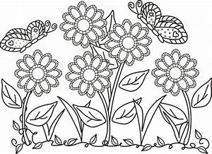 butterfly and flower coloring pages 01 | clinicals ...