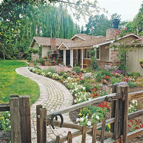 front yard flower power