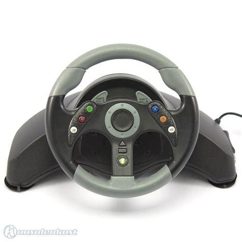 Xbox 360 Lenkrad Racing Steering Wheel Mit Pedale Schwarz Mc2 Mad Catz Ebay
