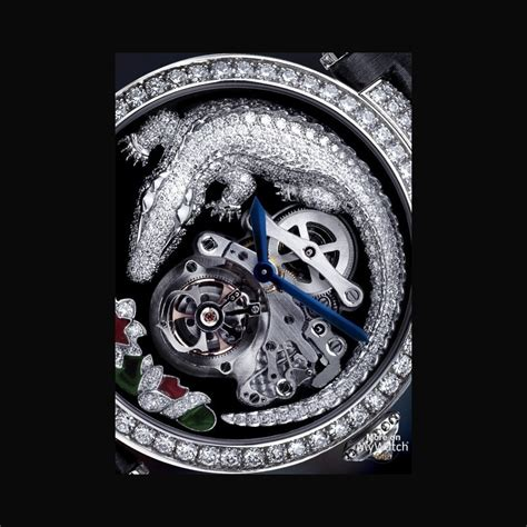 cartier montre tourbillon et crocodile high