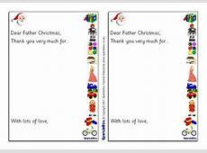 Santa 'Thank You' Letter Writing Frames SB1118 SparkleBox