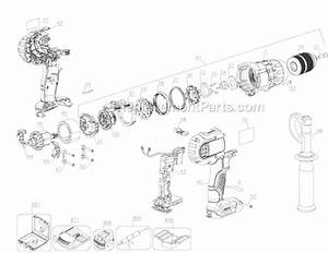 Dewalt Dcd985l2-b2 Parts List And Diagram