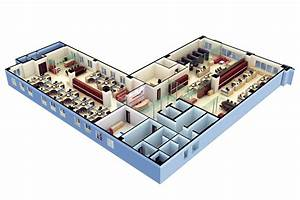 3d Floor Plan Software Free With Modern Office Design For