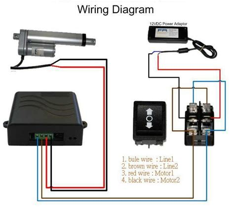 Spa Dpdt Relay Wiring Diagram by Speed Controller For Linear Actuators And Dc Gear Motors