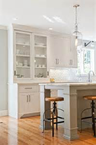 shaker kitchen island shaker style white kitchen w grey island nickel cabinet pulls built in hutch light hardwood