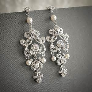vintage wedding earrings etsy shop glamorousbijoux vintage inspired pearl bridal jewellery style