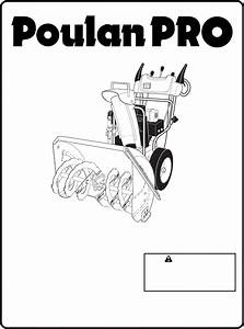 Poulan Snow Blower Pp11530es User Guide
