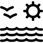 Playa Mar Vista Sol Icono Svg Icons