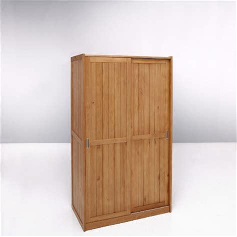 armoire 2 portes coulissantes pin massif cl 201 a certifi 233 e