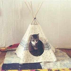 Tipi Pour Chat : diy tipi pour chat diy pinterest cats pets and cat teepee ~ Teatrodelosmanantiales.com Idées de Décoration