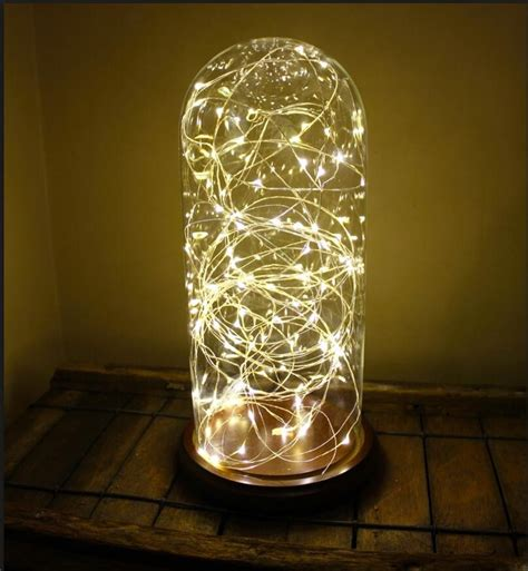 factory direct sales glass cloche glass bell jar  string lights led buy cloche glass