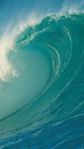 Blue Sea Wave iPhone 5 Wallpaper (640x1136)