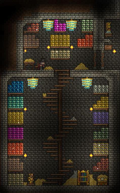 love      staircase attempt   small underground vault terraria terrarium