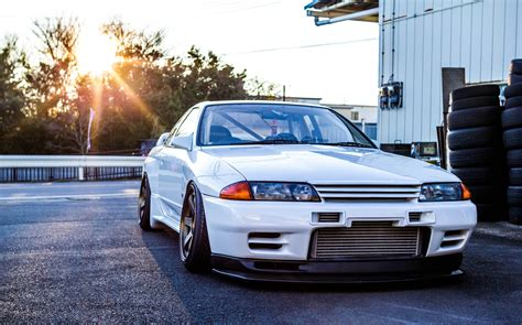 Gtr R32 Wallpaper Hd by Wallpaper Nissan Gtr R32 Skyline White Front View