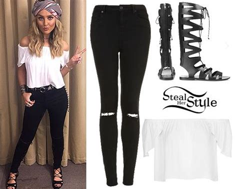 Perrie Edwards posted a new instagram photo last week wearing a pair of FIGTREE Gladiator ...