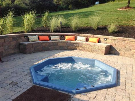 inground tub ideas best inground hot tub cost pool design 122828 pool ideas