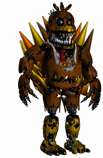 Nightmare Fnaf Chica Fnaf4 Thanksgiving Picsart