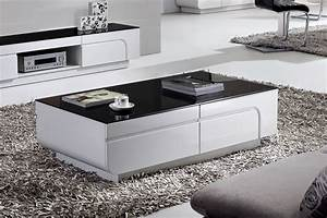 White And Black Coffee Table Home Design