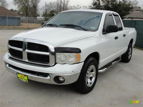 bright white  dodge ram  st quad cab exterior