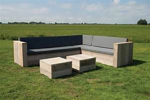 Outdoor Lounge Selber Bauen : gartenset eckbank aus unbehandeltem ger stholz mit tisch lounge garten holz gartenm bel bauholz ~ Markanthonyermac.com Haus und Dekorationen