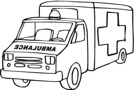 Ambulance Emergency Car coloring page from Rescue Vehicles