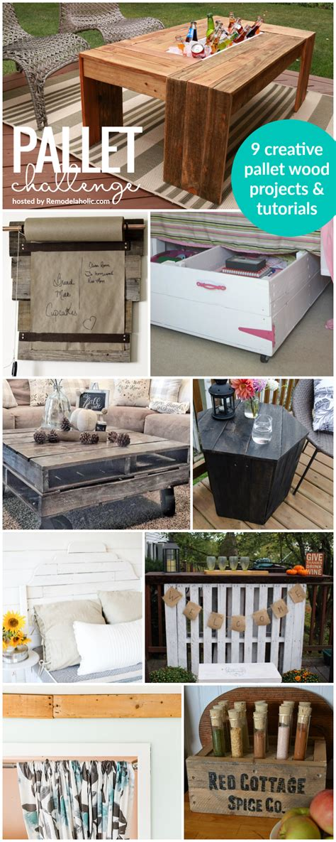 remodelaholic pallets aplenty 9 creative diy pallet projects pallet challenge