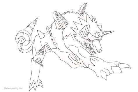 Digimon Coloring Pages Dorulumon Fanart By Newmystery356