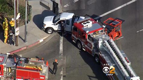 police investigating fire truck crash  wilmington cbs