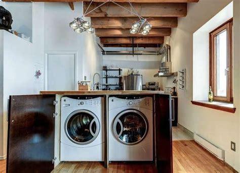 cuisine avec lave linge comment intégrer le lave linge dans intérieur 31