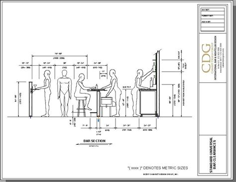 Basement Bar Measurements by What Are The Standard Bar Dimensions And Specifications