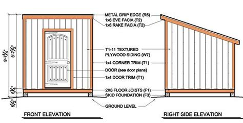 lean to shed plans 8x8 8 215 8 lean to shed plans blueprints for garden shed