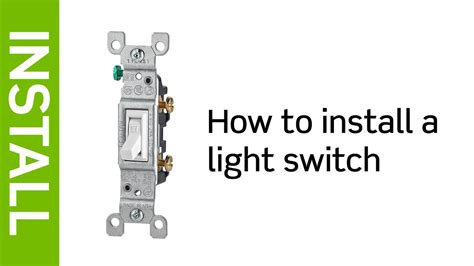 Leviton Presents How Install Light Switch Youtube