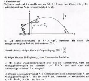 Schiefer Wurf Winkel Berechnen : schiefer wurf in abh ngigkeit des einschlagwinkels ~ Themetempest.com Abrechnung