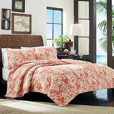 Bahama Coverlets by Bahama 174 Orchid Retreat Quilt In Coral Bed Bath