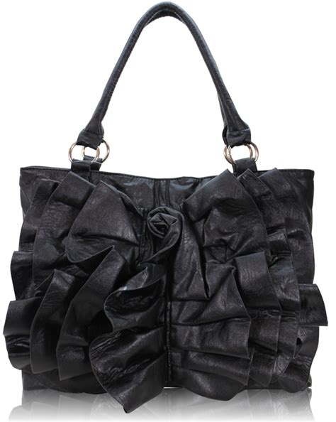 Designer Handbag Black Rose