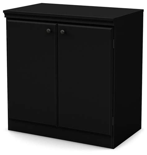 South Shore Storage Cabinet Black by 2 Door Storage Cabinet Transitional Storage Cabinets