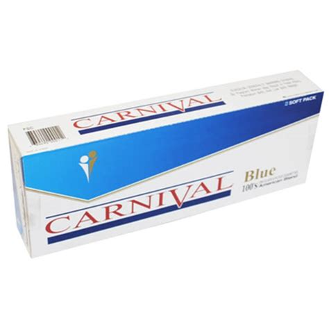 Carnival Blue 100\'s  Budget Brands  Cigarettes Texas