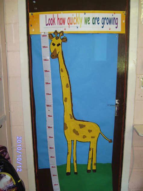 giraffe height chart display classroom display height