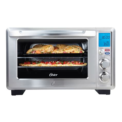 oster digital countertop oven with convection oster 174 inspire 6 slice digital convection countertop oven